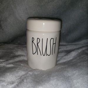 """RAE DUNN toothbrush holder """"BRUSH"""""""